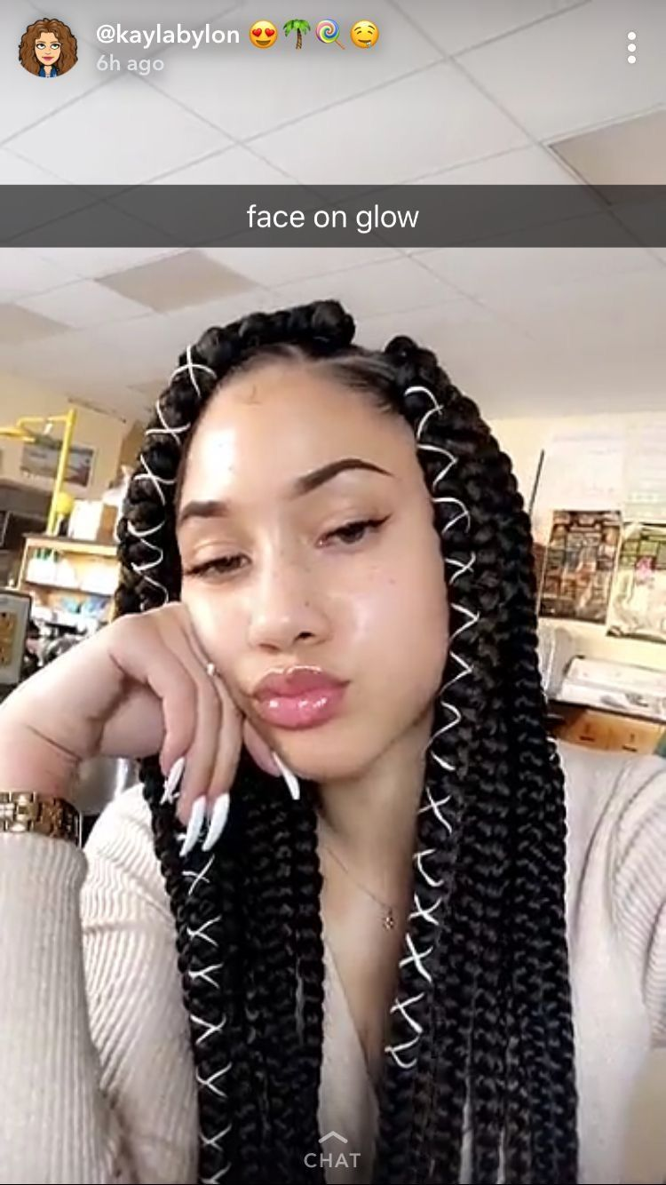 Pin by a on peng pinterest baddies black girl braids and black