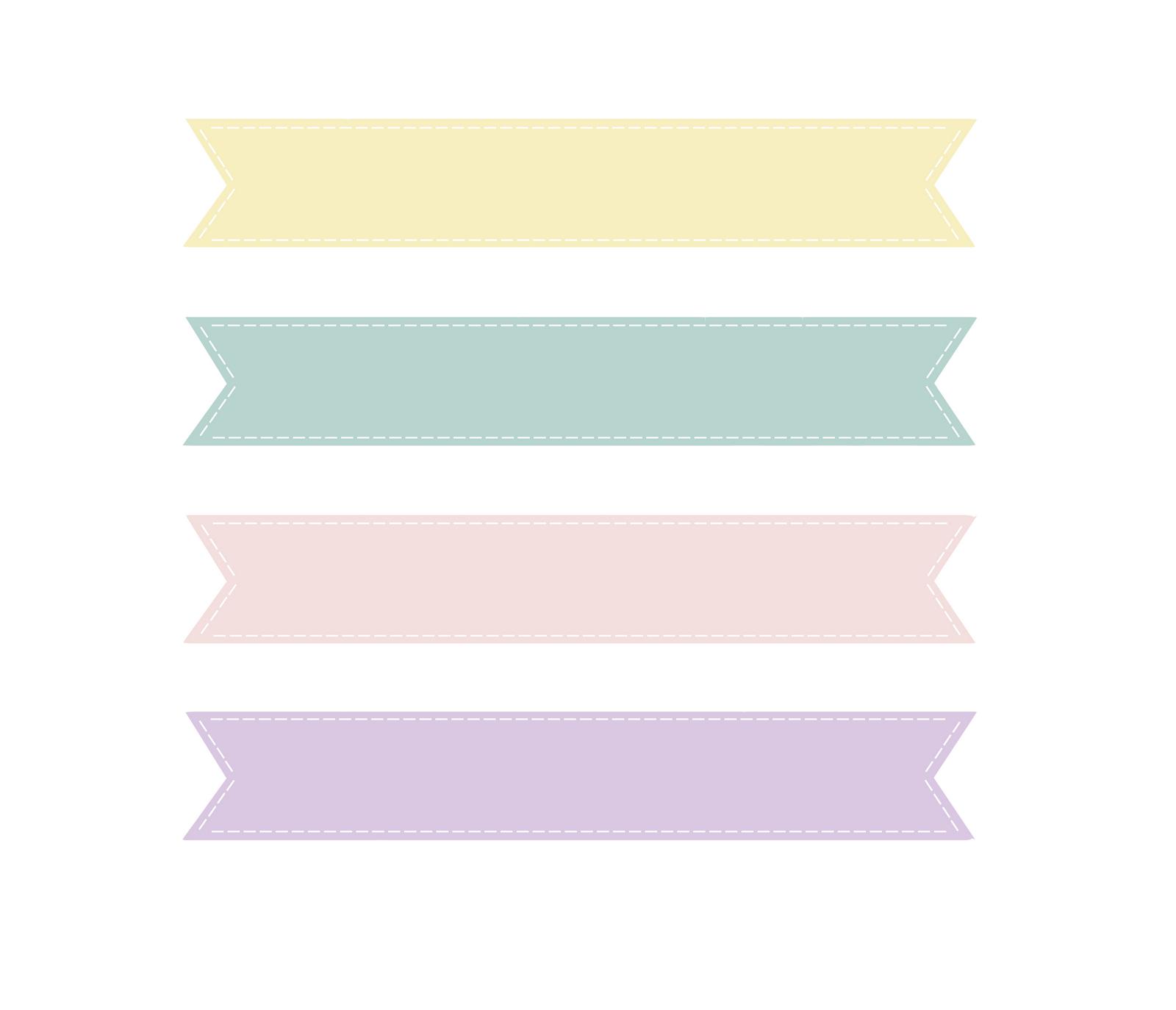 Loveration: Freebies! Cute Pastel Banner Clip Art | Craft Ideas ...