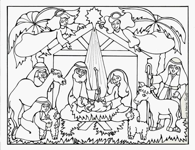 Nativity Coloring Book Page Nativity Coloring Pages Nativity