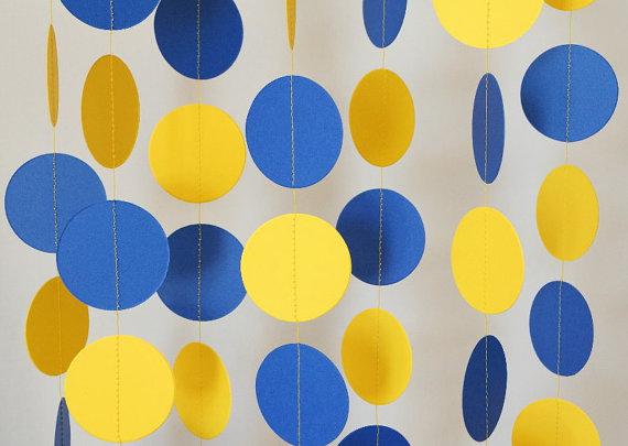 Blue Yellow Graduation Garland Nautical By Fabulouslyhomemade