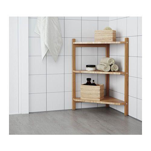 RÅGRUND Wastafel-/hoekrek, bamboe   Pinterest - Wastafel, Ikea en ...