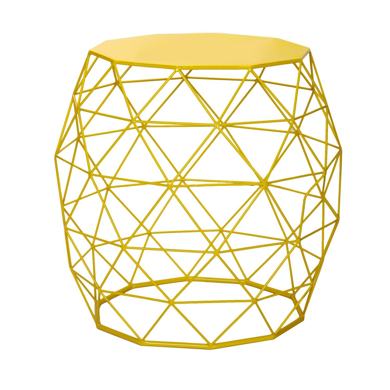 Adeco home garden accents hatched diamond pattern wire round iron adeco home garden accents hatched diamond pattern wire round iron stool table yellow greentooth Choice Image