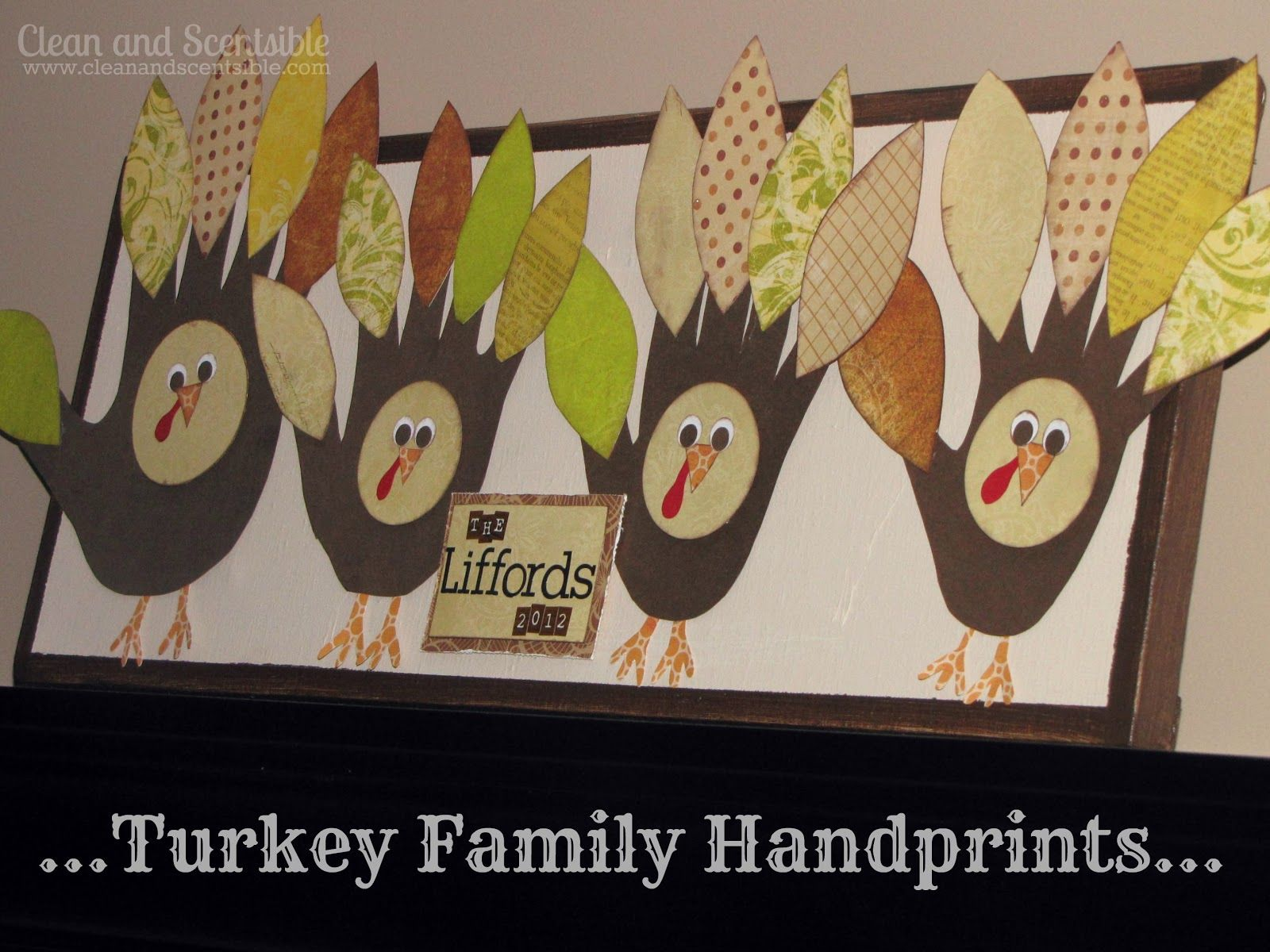 Thanksgiving Handprint Turkeys - Clean and Scentsible