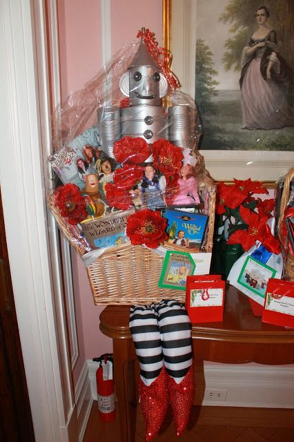 wizard of oz theme basket for a silent auction
