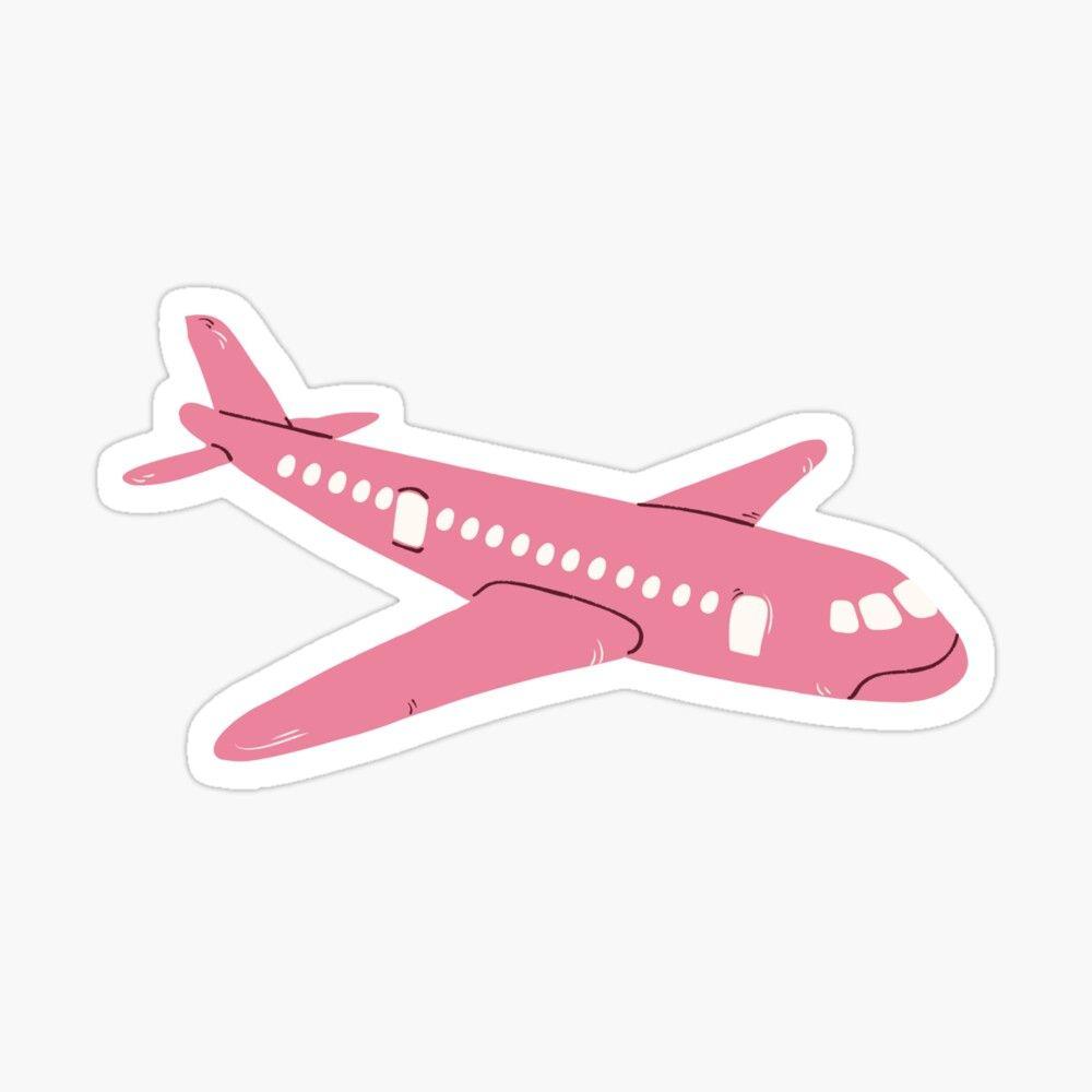 Pink Airplane Sticker Great For Travelling On The Summer Vacation Pegatinas Bonitas Pegatinas Wallpaper Pegatinas Imprimibles [ 1000 x 1000 Pixel ]