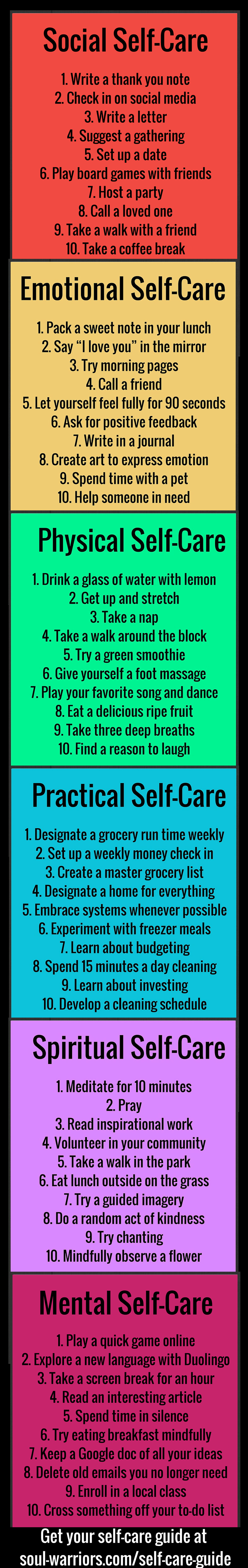 Self-Care Guide | For My Body, Mind and Soul | Pinterest | Free ...