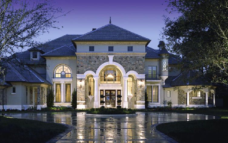 Classic Luxury House classic baroque style exterior luxury house designs wide front