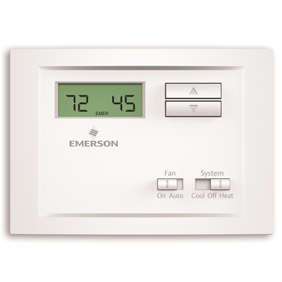 Emerson Thermostat Np110c Electronic Non Programmable Home Thermostat Baseboard Heating Heat Pump System