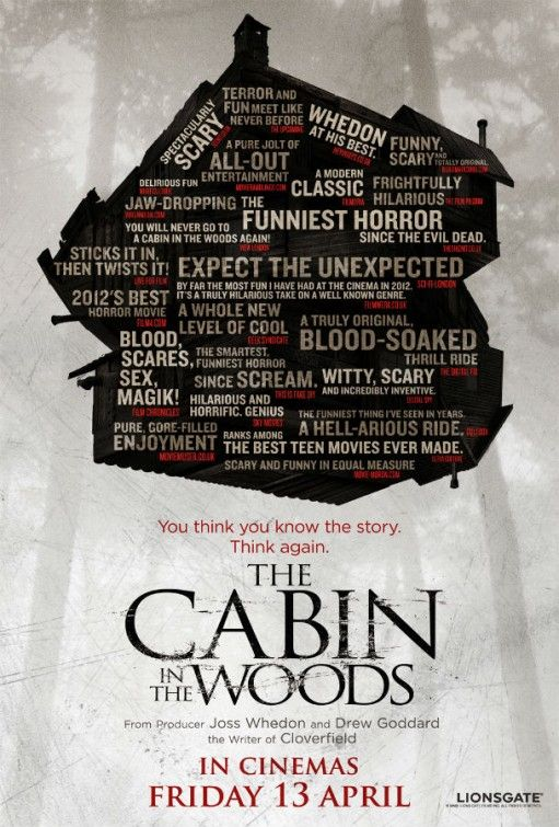 Risultati immagini per the cabin in the wood movie poster