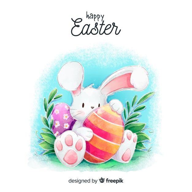 Download Watercolor Easter Day Background For Free Artesanato De Pascoa Papel De Parede Da Pascoa Desenhos De Pascoa