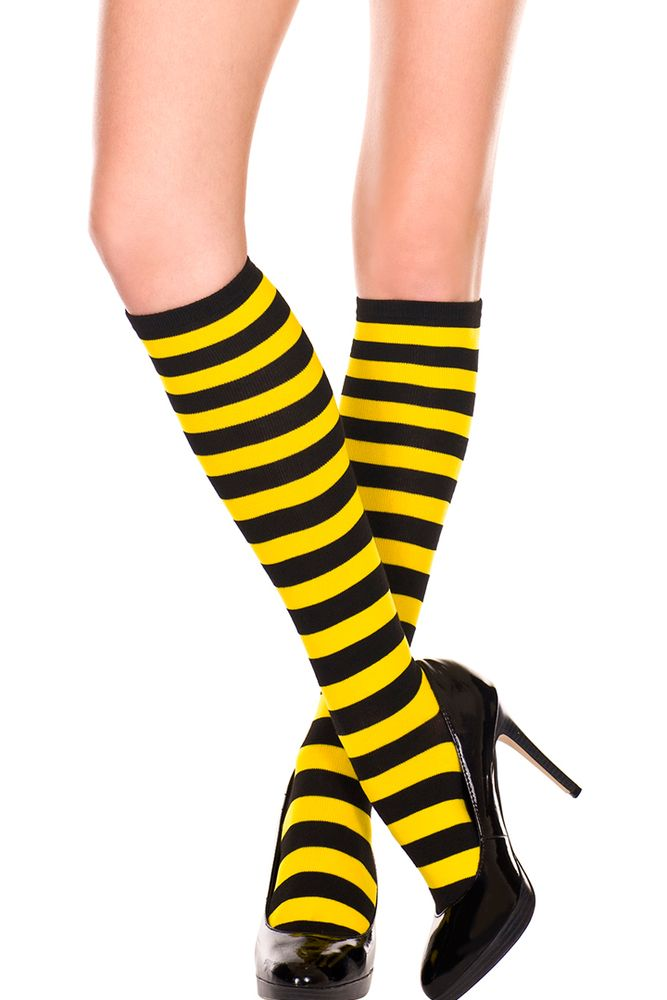 Kawaii Honeybee Knee High Compression Socks Excellent Tie Dye Halloween For Women Over The Knee Socks
