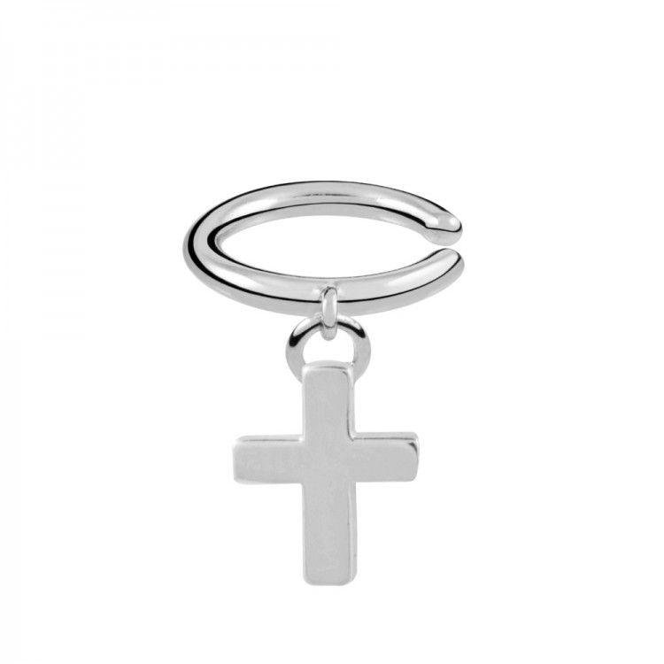 Pendientes de cruz en plata