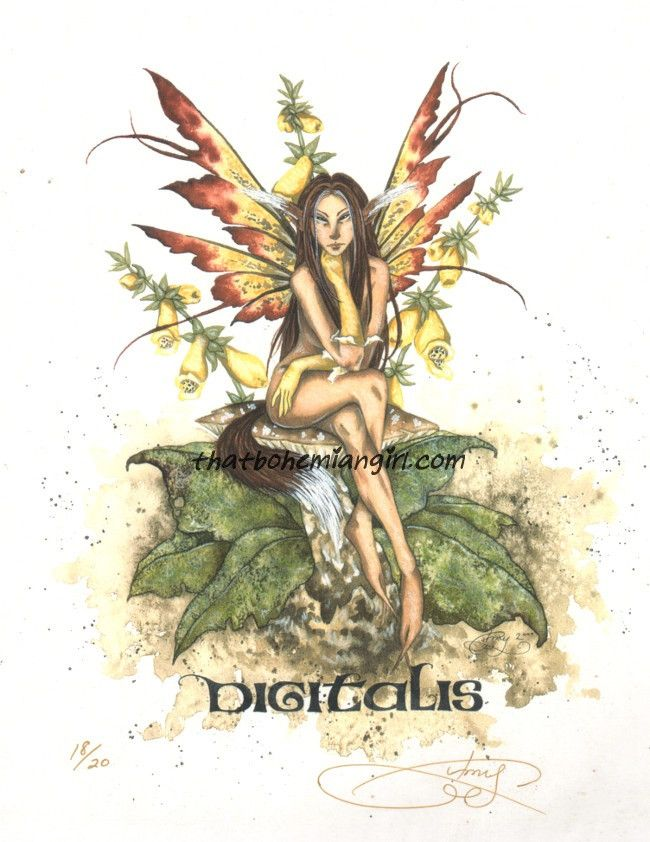 Fairies//Fantasy Foxglove Amy Brown Artist Sticker