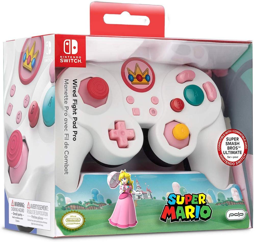 Amazon Com Nintendo Switch Super Mario Bros Princess Peach Gamecube Style Wired Fight Pad Pro Controller Nintendo Switch Super Mario Nintendo Switch Nintendo