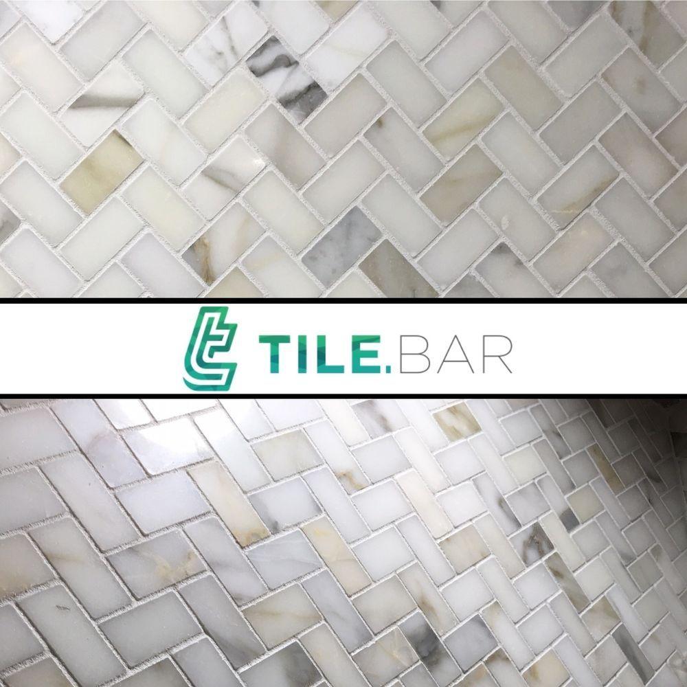 1SF White Carrera(Carrara) Marble Random Strip Mosaic Tile Kitchen ...