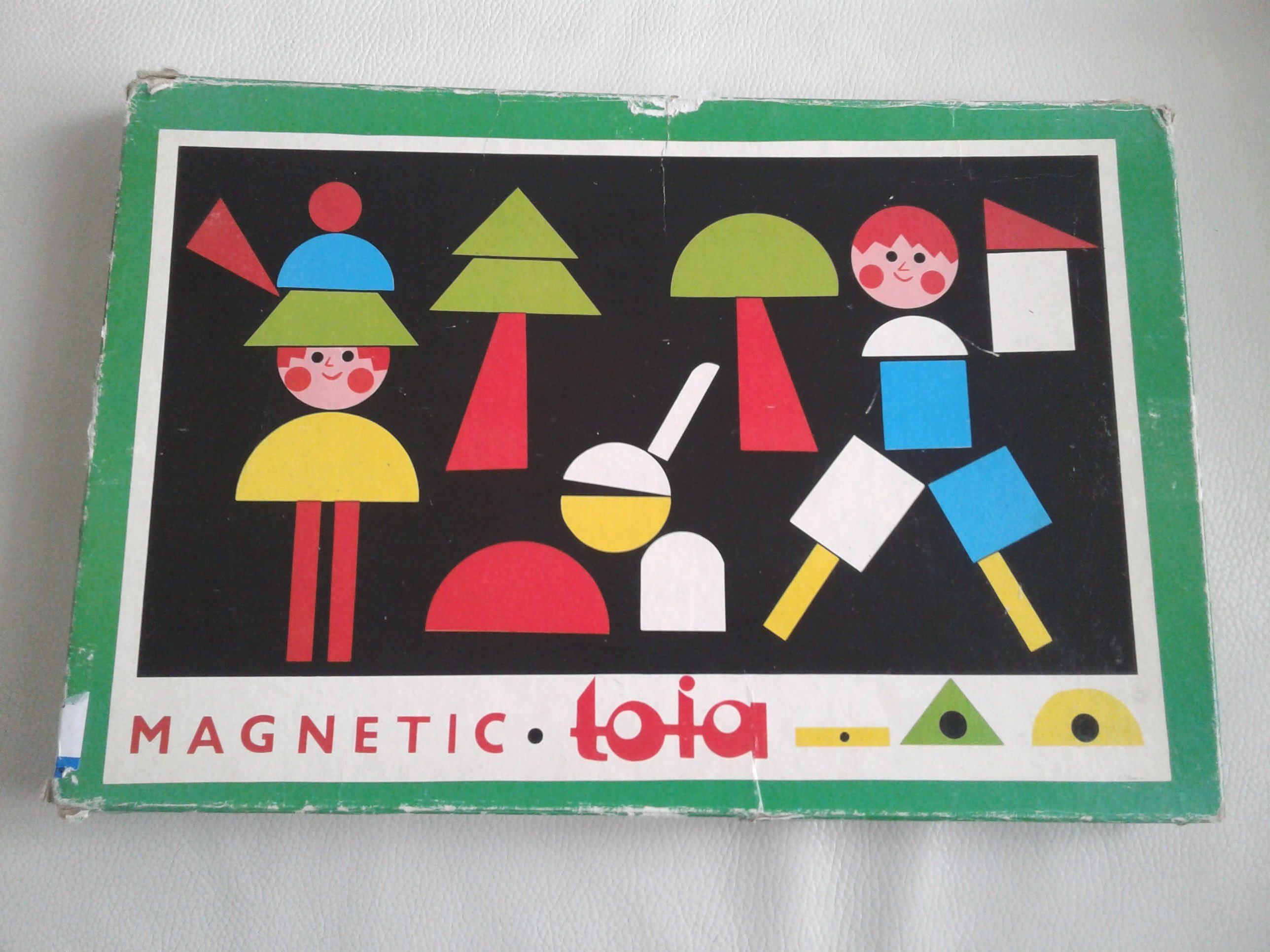 Vintage 1960 Magnetic Toia Children Game Tofa Playset Wood Etsy Games For Kids Shape Pictures Playset
