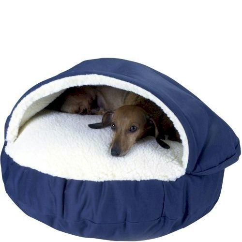 $79.95-$109.99 The Original Cozy Cave Dog Bed is available at a Great Price and with our Unmatched Money Back Guarantee! This is one of the most popular pet beds on Internet ... and we have it at the BEST prices! The Cozy Cave Dog Bed has a sheepskin pocket designed so that small pets can snuggle within the comfort of a faux sheepskin pocket. A support keeps the top cover in place so it can be ea ...
