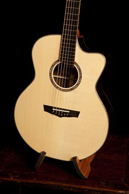 Handcrafted Wenge Guitar Small Jumbo Guitar With Cutaway Lichty Guitars Guitar Custom Acoustic Guitars Acoustic Guitar