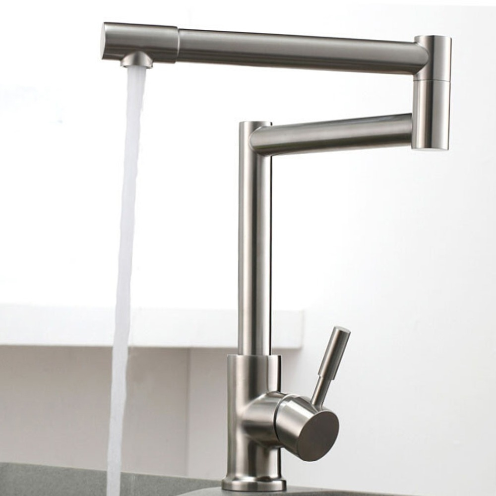 (81.00$) Know More   FLG 304 Stainless Steel Lead Free Kitchen Faucet