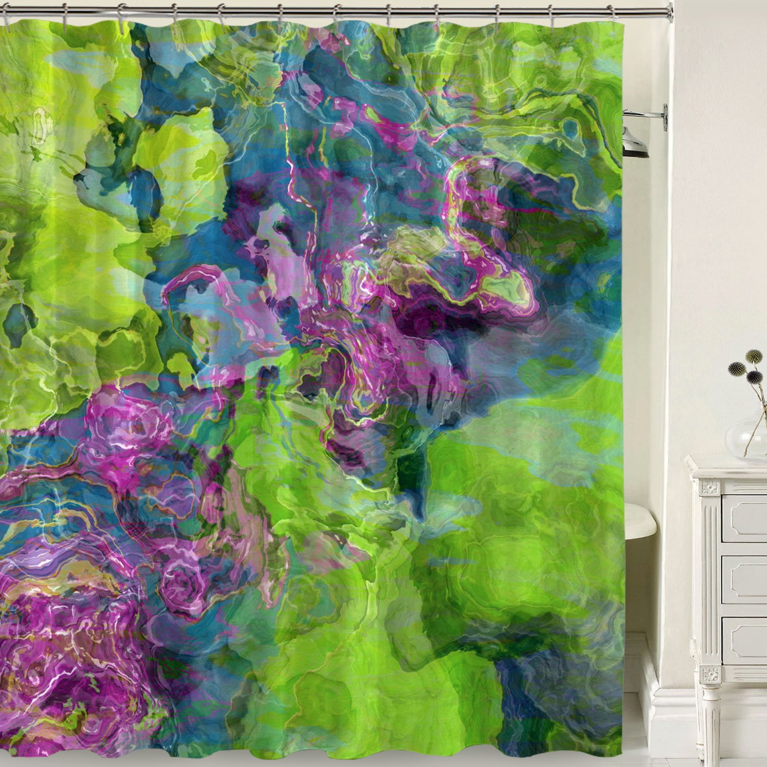 Shower Curtain Beautyberry Green Shower Curtains Contemporary