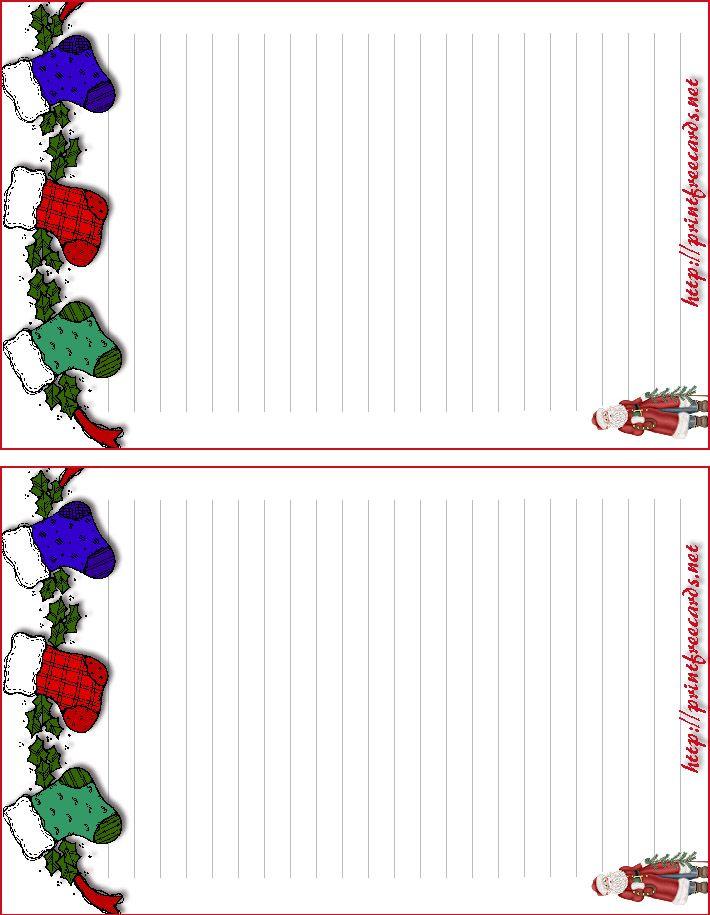 photo about Free Printable Christmas Stationary titled printable xmas stationary -