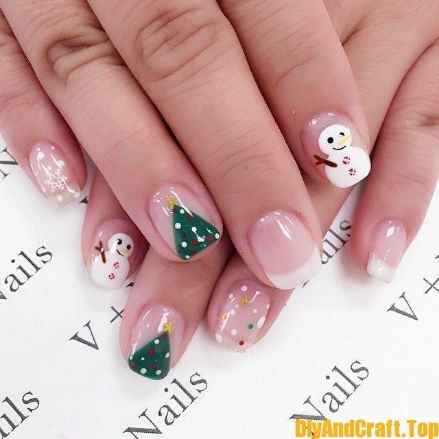 15 + Christmas beautiful nail polish models – DİY Creative Cooking