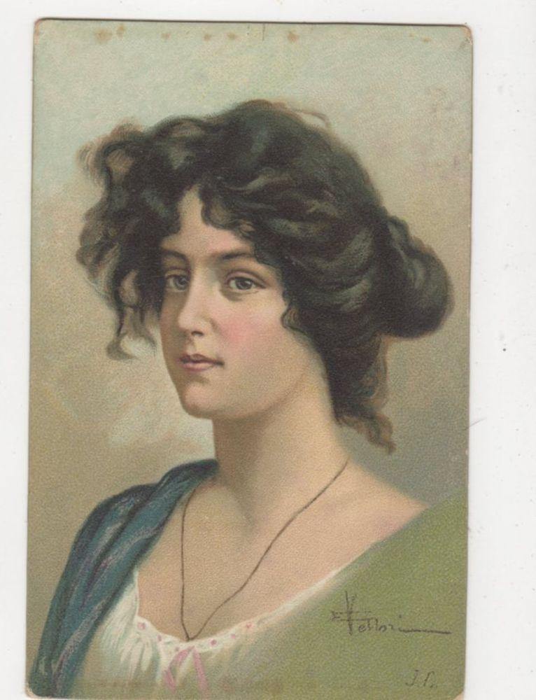 Vintage Chromo Litho Art Postcard Europe 373a