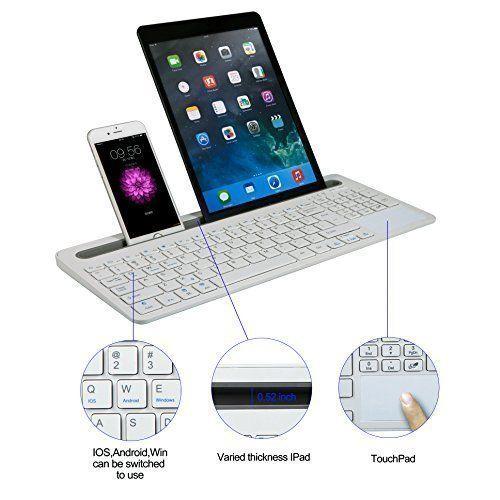 BATTOP Multi-Channel Universal Slot Bluetooth Keyboard Support iOS