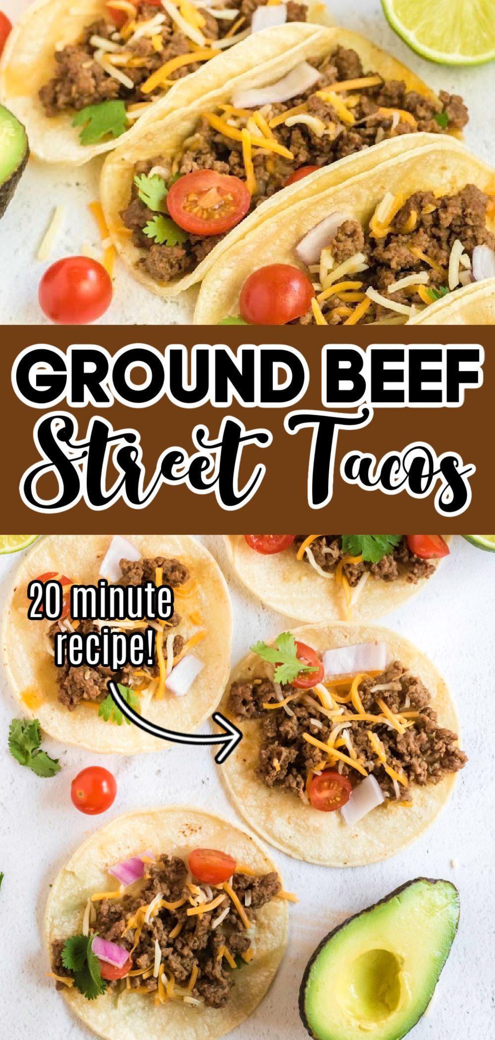 Ground Beef Street Tacos Pinkwhen Recipe In 2020 Minced Beef Recipes Taco Recipes Ground Beef Easy Meals