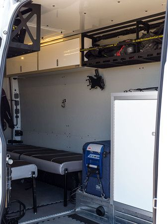 Diy Sprinter Bike Hauler Interior Showing Overhead