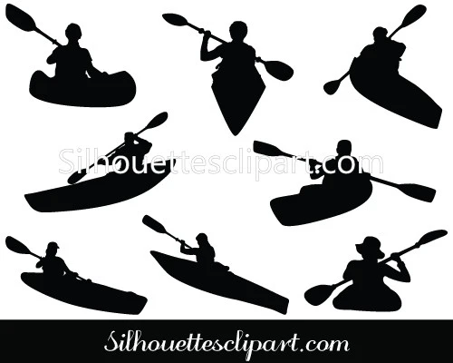 Kayaking Silhouette Vector Silhouette Vector Kayaking Silhouette Clip Art