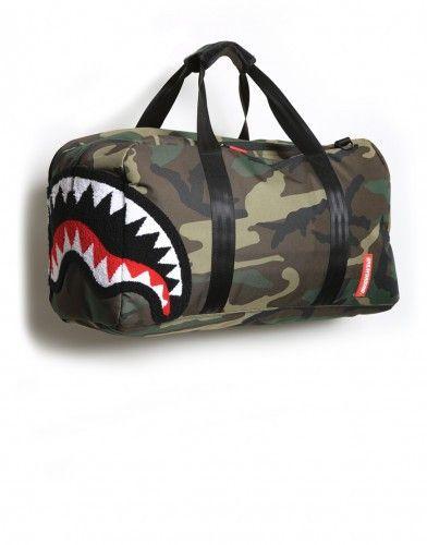 Sprayground Chenille Woodland Shark Laptop Duffel Karensclosetny Duffle Chenillewoodland