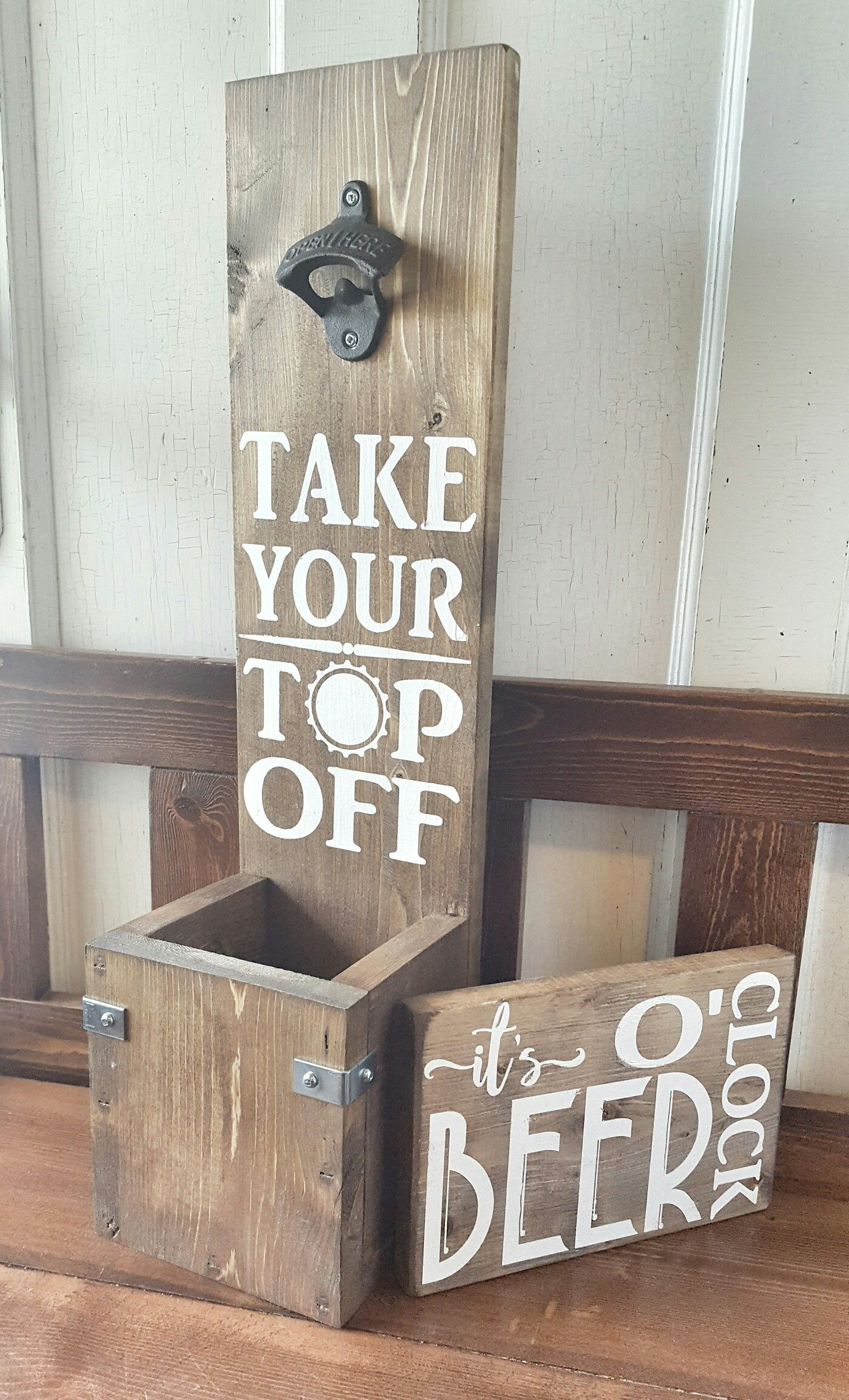 Wall Mount Beer Opener Cameo Projects Pinterest