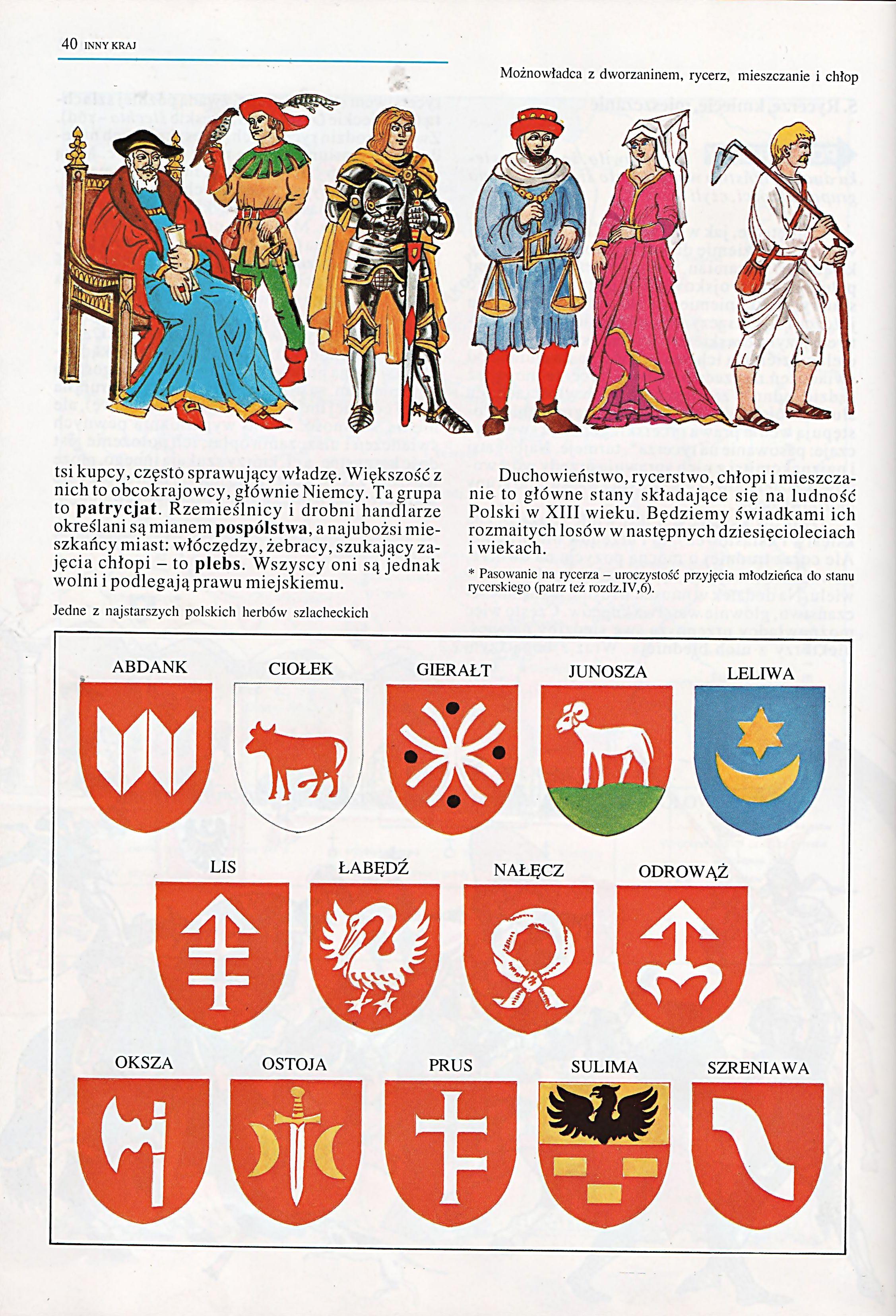 Ilustracja Z Ksiazki Polska Trzech Boleslawow Stroje Herby Szlacheckie Cards Playing Cards