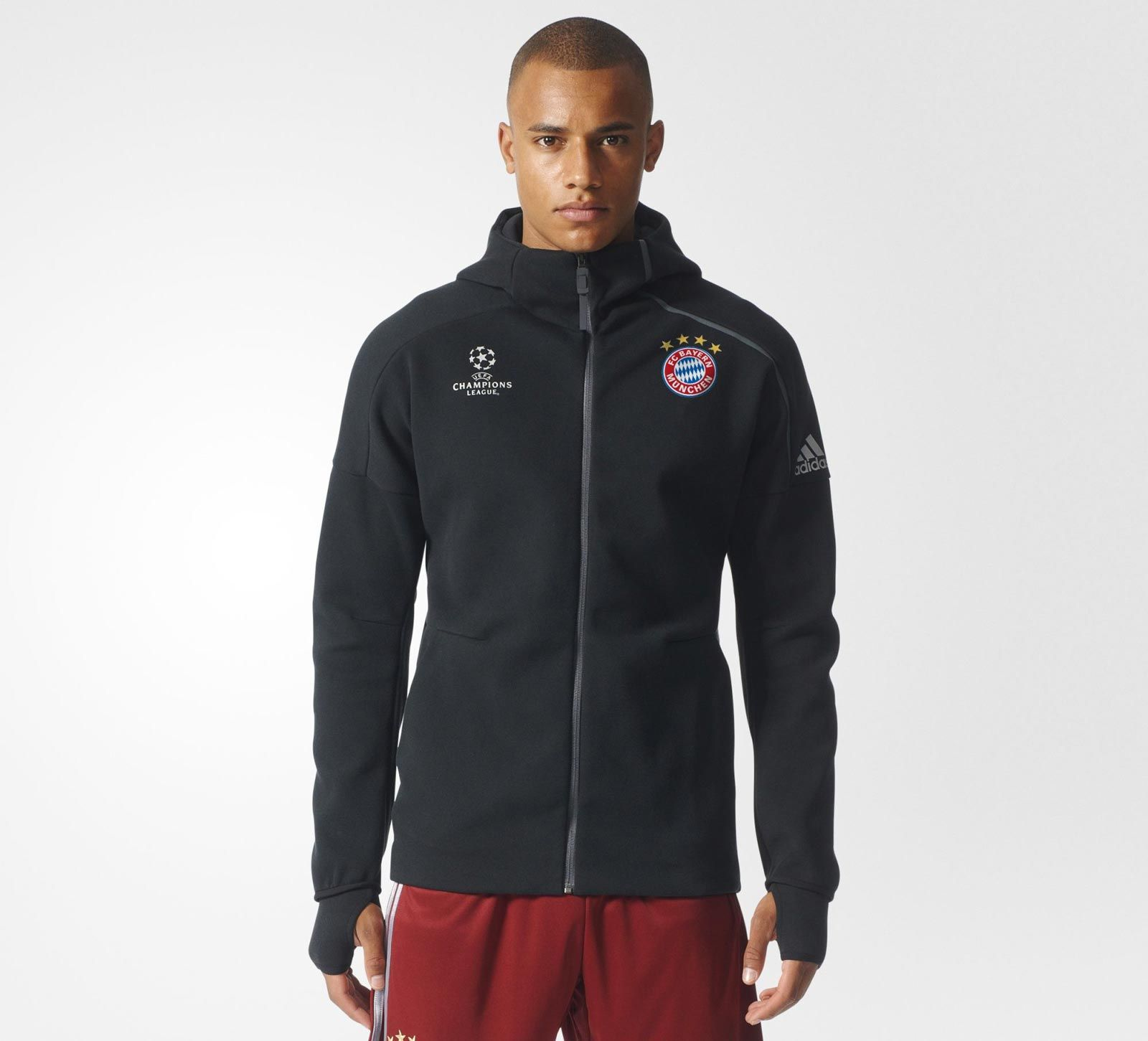 2bd93fdf5 The new Adidas Bayern Munich Champions League ZNE Anthem Hoodie introduces  a…