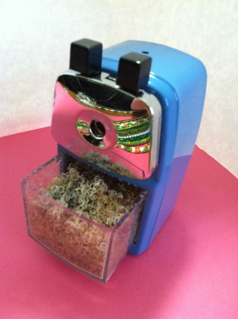 The Sharpener that all the teachers are talking about. It was even made by a teacher...The blog also has a description of her pencil management in her classroom, very clever!