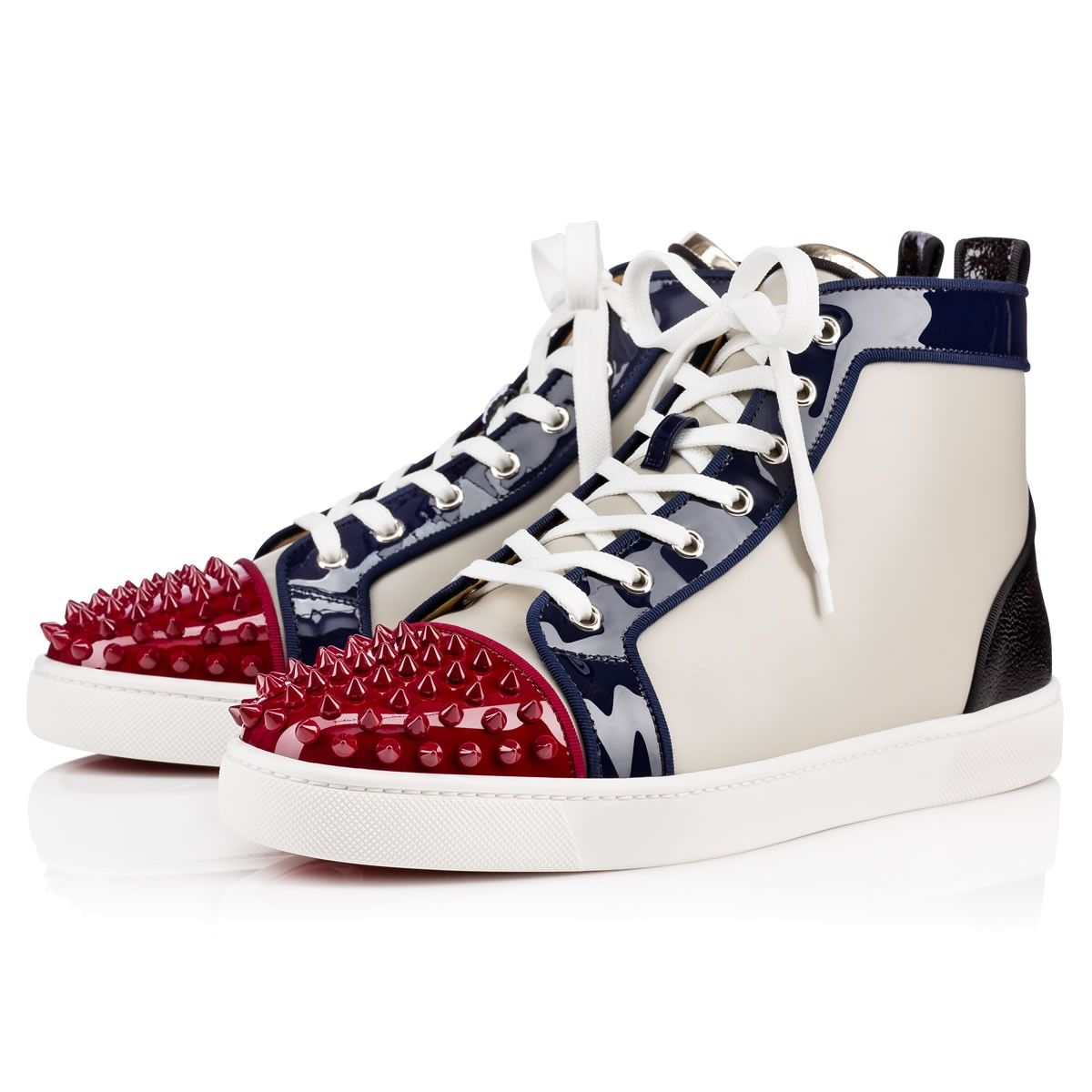 reputable site 678d5 dd129 CHRISTIAN LOUBOUTIN Lou Spikes Patent/Calf Caviar Multicolor ...