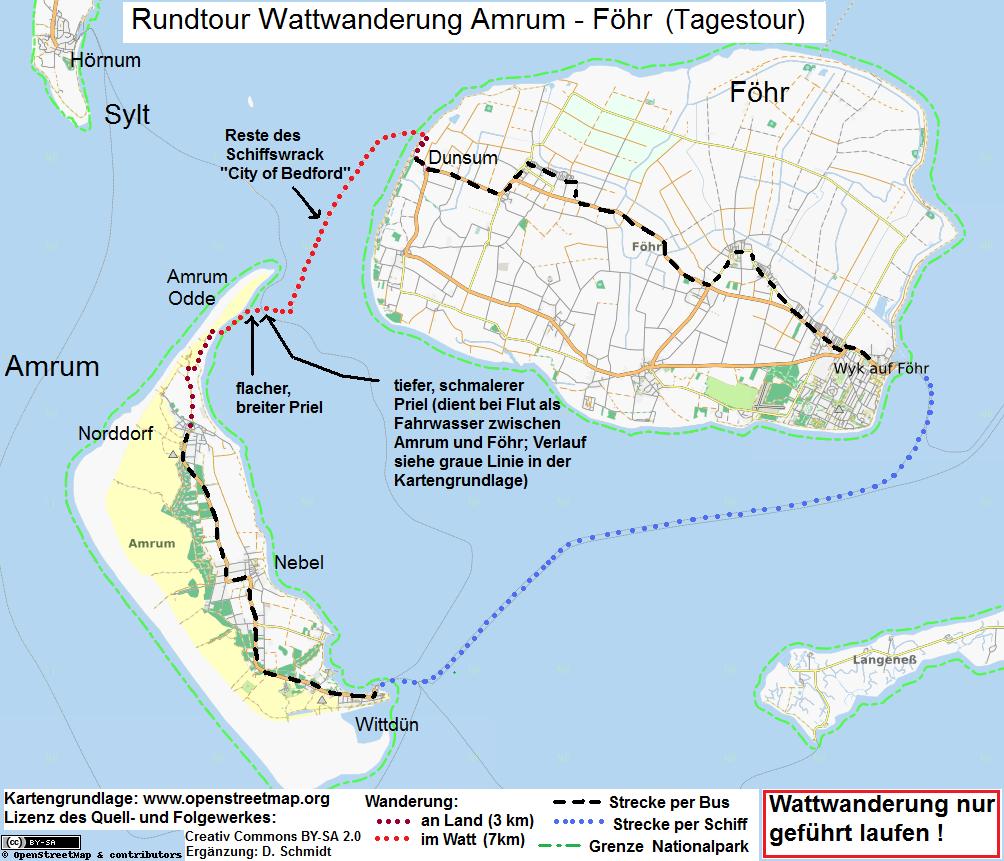 Fahrradwege Ostfriesland Karte.Karte Amrum Foehr Mit Wattwanderung Bilder In 2019 Amrum