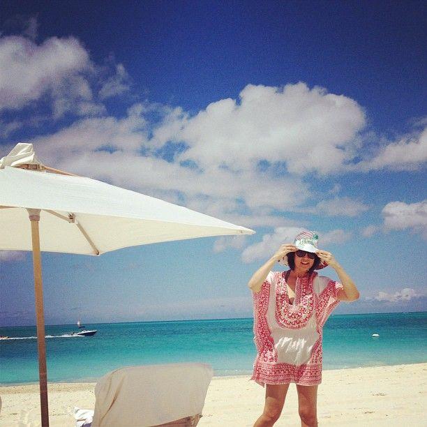 On the beach in #turksandcaicos in my #trinaturk tunic!