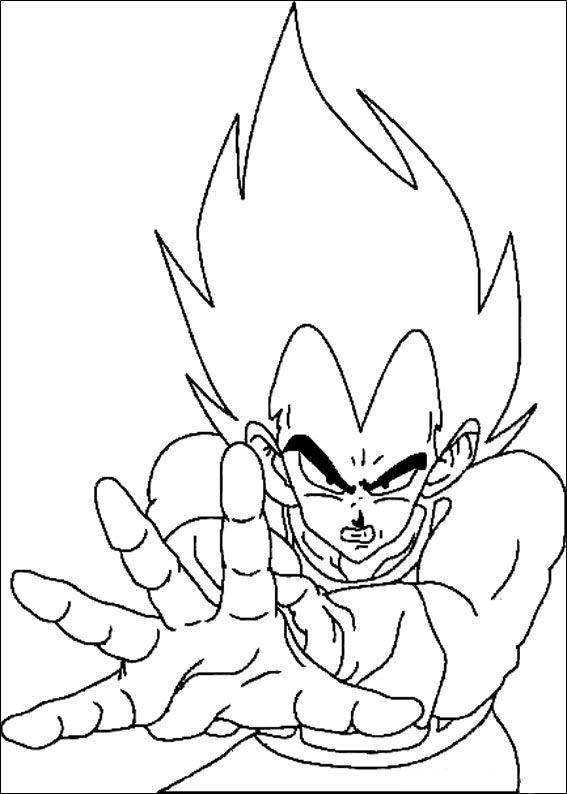 Dragon Ball Z Ausmalbilder. Malvorlagen Zeichnung druckbare nº 63 ...