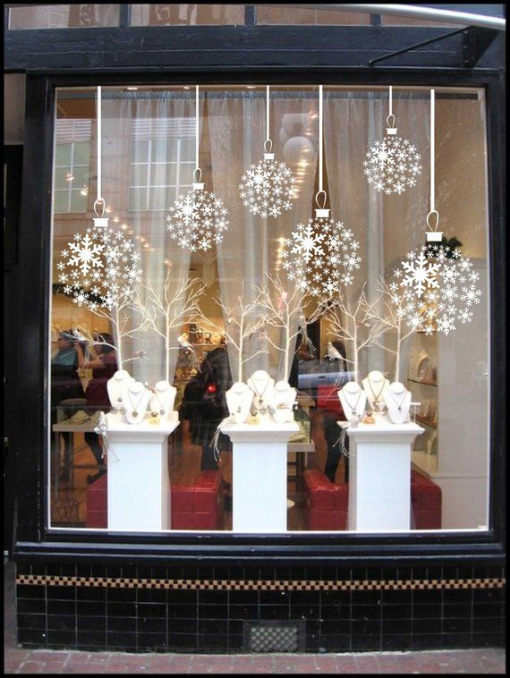 Vinyl Holiday decal / christmas window decals, Winter ...