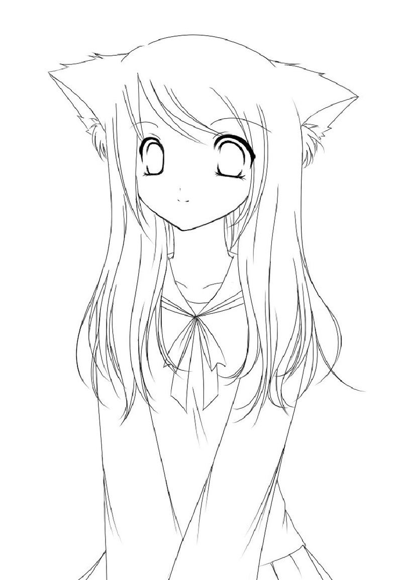 Categories Anime Girl Coloring Pages
