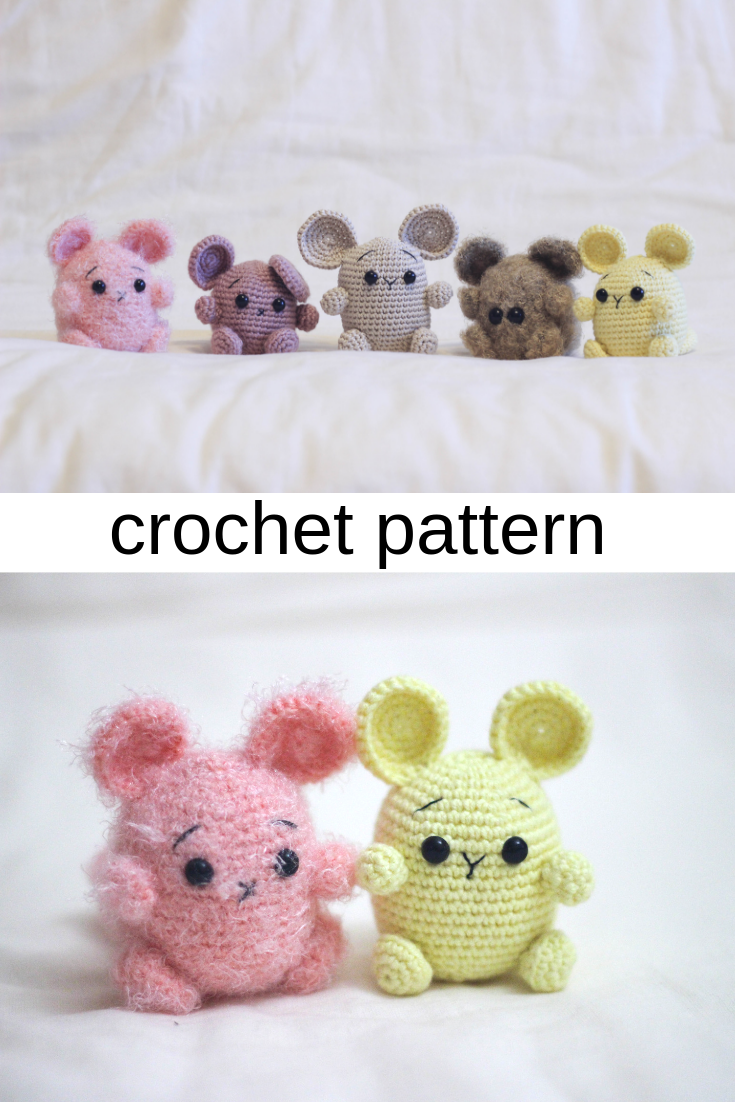 Albert the Mouse amigurumi pattern by LittleAquaGirl (With images ... | 1102x735