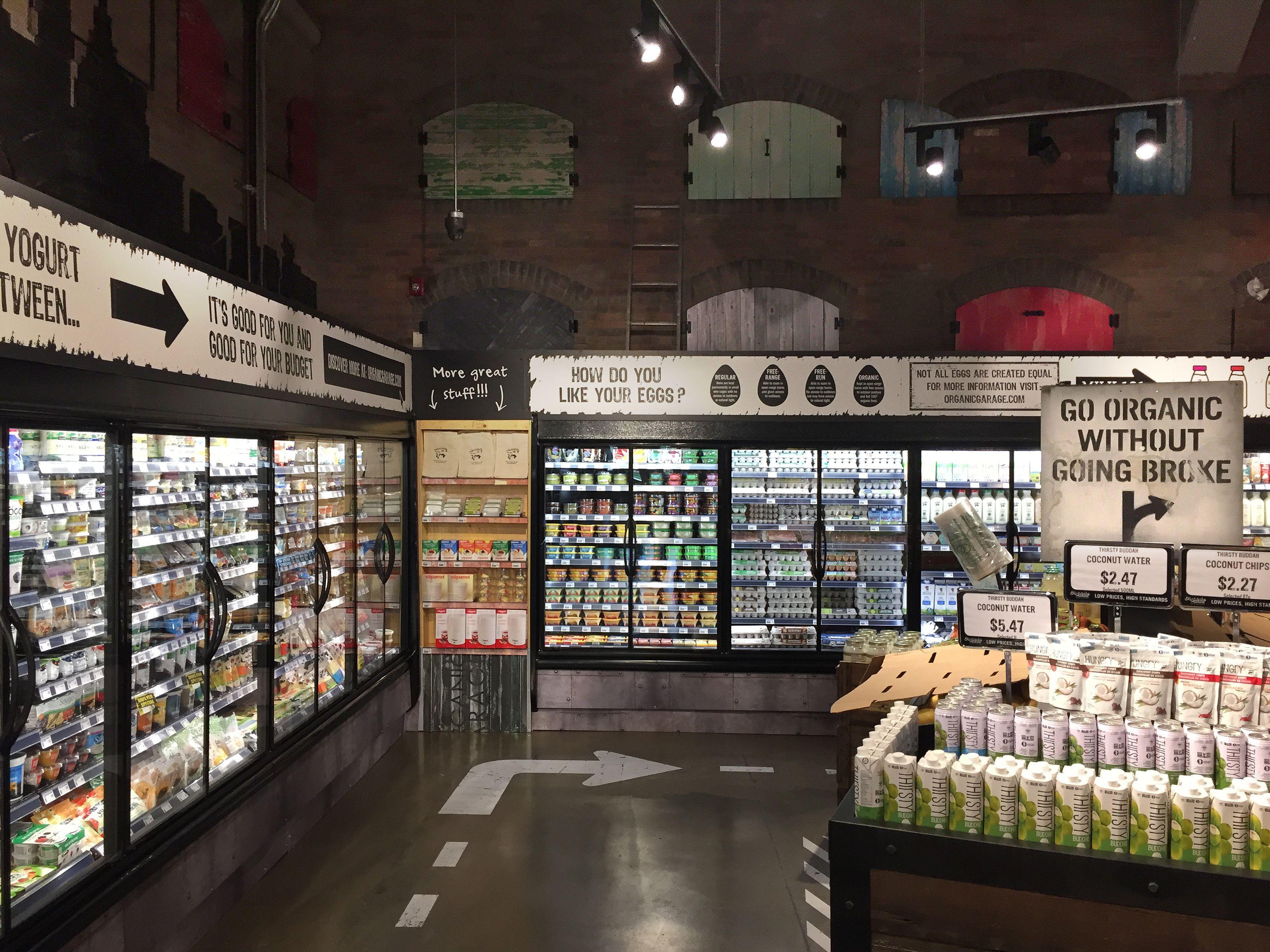 Organic Garage Designed By Api Supermarket Design Grocery Store Design Store Design