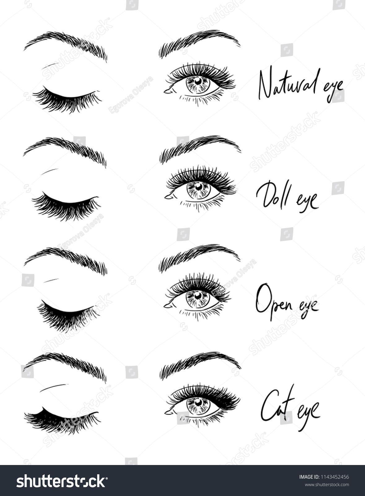453eec1fbe7 Eyes with eyelashes. Types of eyelash extensions. eyelashes#Eyes#Types# extensions