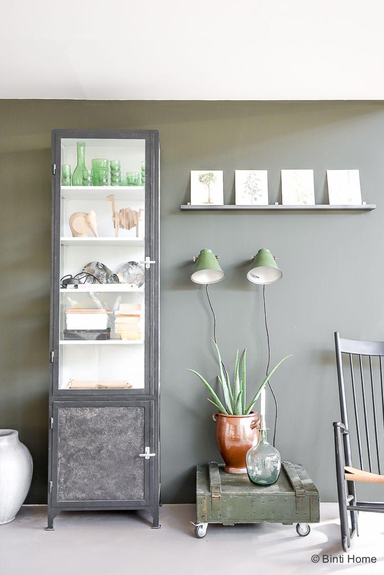 Vtwonen huis woonkamer inspiratie groene muur ©BintiHome ...