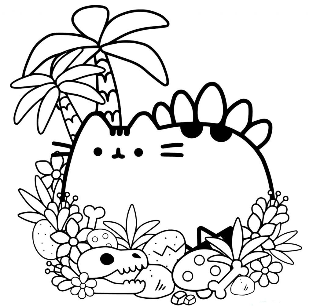 Pusheen Coloring Pages Dinosaur Coloring Pages Unicorn Coloring Pages Cat Coloring Page