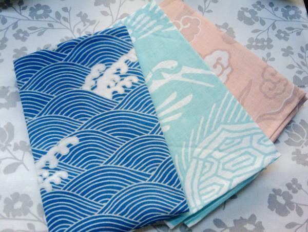 和风日式擦手巾面料包裹布 盖布 手作面料 原包装