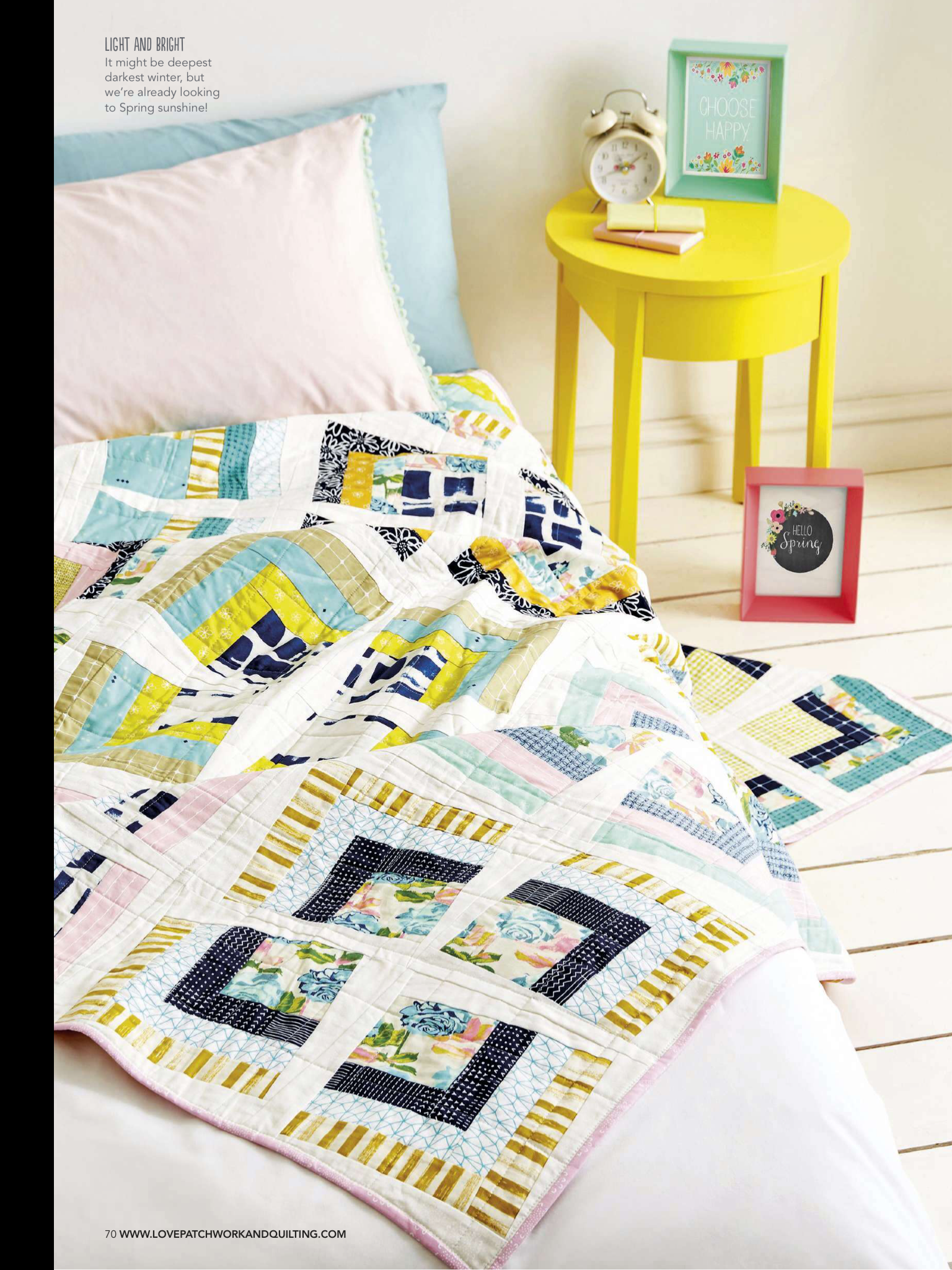 Pastel Party by Karen Lewis - Love Patchwork & Quilting, Issue 29
