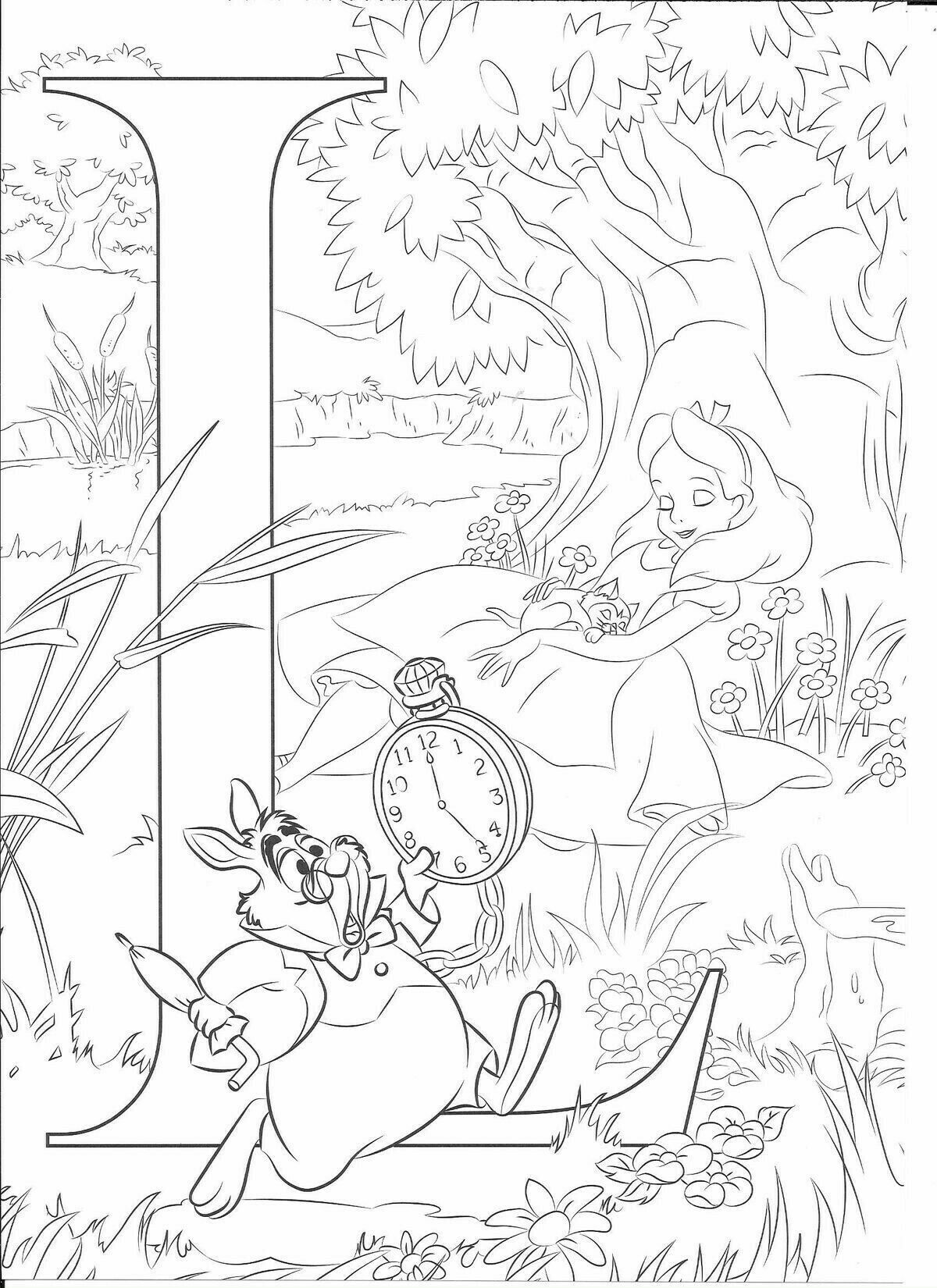 Pin By Courtney Turley On Colorare Disney Coloring Sheets Abc Coloring Pages Disney Coloring Pages